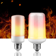 E27 E26 Led Flame Lamp 110V 220V LED Flame Effect Light Bulb E14 B22 Flickering Fire Lights Decorative Lamp Two/ three modes(China)