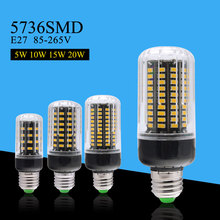 Epistar Chip Led 5W 10W 15W 20W Bulb Lamp E27 LED Corn Bulb AC110V 220V SMD5736 Spoltight Home Bombillas Light 38 85 115 125Leds