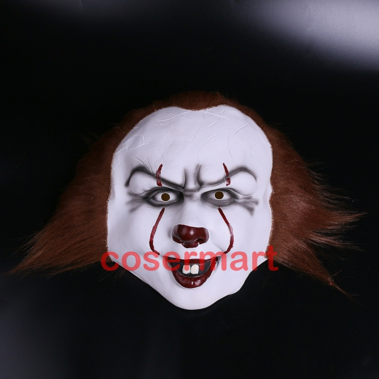 Halloween Pennywise Costume Stephen King IT 2 Scary Clown Man Cosplay Prop Girl Children Toy Trick or treat (1)