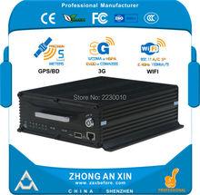 "4 Channel AHD GPS tracking 3G EVDO Wifi 2.5"" SATA HDD 2TB SD card 64GB Vehicle Mobile DVR MDVR(China)"