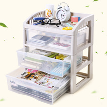 Plastic Desk Organizer 3 Drawers Jewelry Cosmetic Make Up Organizer Makeup Tools Book Bathroom Office Organizer Holder Box Case