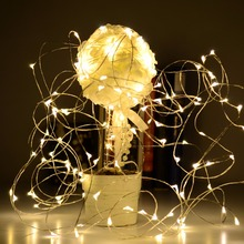 Gledto 2M/3M/4M/5M 20/30/40/50LED Powered Decoration LED Copper Wire Fairy String Light Lamp for Christmas Holiday Wedding Party
