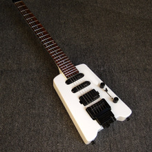 Headless SSH EMG White Glossy Solid Wood High Qaulity Electric Guitarras Musical Instrument Freeshipping China Guitare(China)