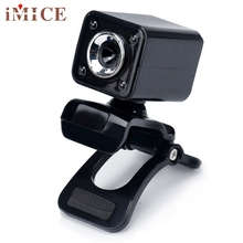 Beautiful Gift New USB 2.0 1080P 8.0MP 4 LED HD Webcam Camera with MIC for Laptop Computer Wholesale price Dec25