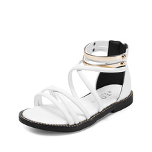 Buy COZULMA Kids Sequined Peep Toe Roman Sandals Girls Summer Gladiator Sandals Shoes Children Non-slip Sole Shoes Size 27-37 for $11.14 in AliExpress store