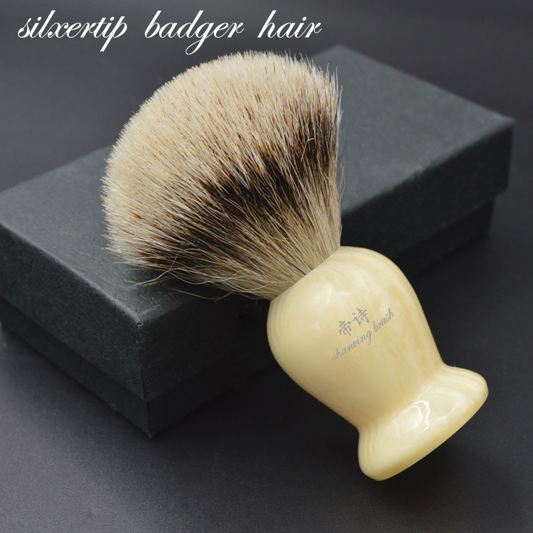 shave brush vintage hand-crafted Silvertip Badger Shaving Brush  Resin Handle Barber Tool <br>