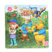 3D Wooden paper Jigsaw Puzzles Toys for Children Winnie Puzzles Kids Toys Baby Toys Educational toys Puzzels Christmas gifts(China)