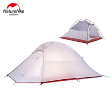 2016 DHL free shipping NatureHike 2 Person Tent ultralight 20D Silicone Fabric Tents Double-layer Camping Tent Outdoor Tent