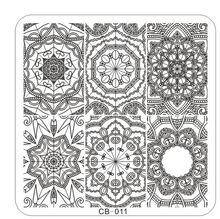 1PC !CB11 66*66MM 2017 Newest designs Nail Art Hot square New Stamping Image Metal Plates Kit Set Mixed Designs Stamping,#21210