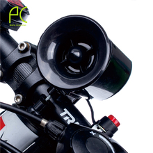 PCycling 6 Sound Cycling Bike Bell Alarm Warning Horn Ultra Loud Bicycle Accessory Black Electric Horn Klaxon Bell Alarm Siren