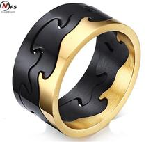 Super Quality 9.5MM Gear Ring,316 Stainless Steel Ring Black Gold Titanium Ring,Wholesale Jewelry Supplier Free Shipping
