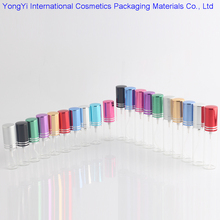 BP-91 5pcs 5ML 10ML Mini Portable Colorful Glass Perfume Bottle With Aluminum Atomizer Empty Cosmetic Containers For Travel(China)