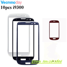 Vecmnoday 10pcs For Samsung S3 I9300 i9305 I747 Replacement parts LCD Front Digitizer Touch Screen Lens Outer Glass With Logo(China)