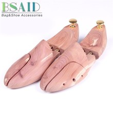 BSAID 1 Pair Shoe Trees Red Cedar Wood, Adjustable Shoe Shaper Rack Shoes Stretcher Support Men Women Flats Boot Expander Device(China)