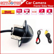 10X DHL Freeshipping Universal car camera HD CCD 170 degree rear view camera Front Side car detector Great Wall auto camera park