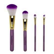 Professional 4 pcs Makeup Brush Set tools Comestic Toiletry Kit Make Up Brush Set For Beauty(China)