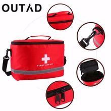 Red Nylon Striking Cross Symbol High-density Ripstop Sports Camping Home Medical Emergency Survival First Aid Kit Bag Outdoors(China)