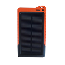 Melasta 7200mah solar panel power bank use single silicon brittle material for cellphone, tablet personal computer