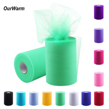 OurWarm Tulle Roll 15cm 100 Yards Wedding Party DIY Decorations Fabric Tulle Rolls Spool for Crafts Festive Supplies Wholesale