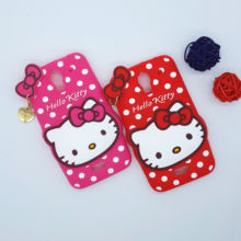 New 3D Cartoon Hello Kitty Case Soft Silicon Back Cover for Huawei Y360 Y3 Y3C Y336 Rubber Phone Shell