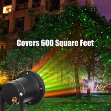 1pcs IP65 Waterproof Laser Stage Landcape Lights Red Green Double flash Light Projector Garden Xmas Party Lamp Classic Outdoor