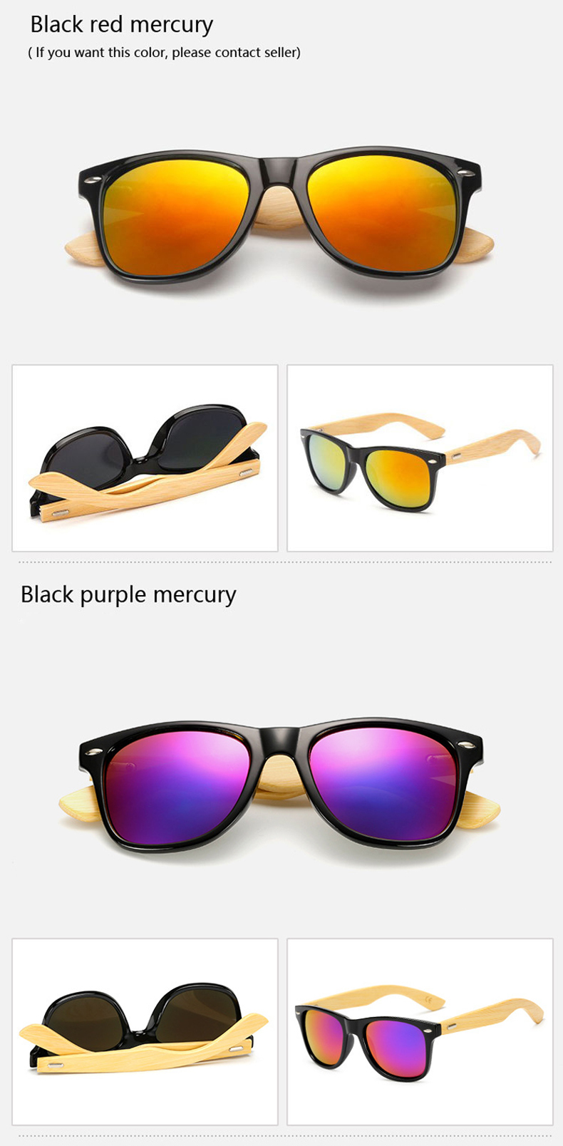 Ralferty Retro Wood Sunglasses Men Bamboo Sunglass Women Brand Design Sport Goggles Gold Mirror Sun Glasses Shades lunette oculo 11
