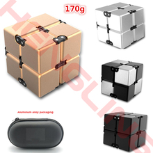Fashion Fidget Cube Infinity Cube For Stress Relief Fidget Anti Anxiety Stress Funny EDC Toy ABS/Aluminum Alloy Kids gifts 170g(China)