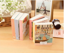 Cute Cartoon Drawing Pictures Colored Page Palm Notebook Mini Notepad Travel Diary Book Gift Stationery Escolar Papelaria
