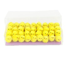 2017 Free Shipping 36pcs/pack Yellow Mini Little Chicks Cute chicken Easter Decoration Home Decor Kids Gifts