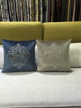 Hot Sale Rome Flower Pattern High Grade Rhinestone cc branded Pillow Colorful Fabric Cushion Home Furnishing Model Decor