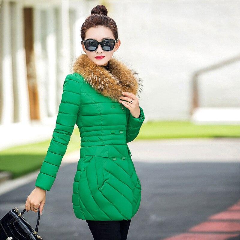 2017 New Winter Fur collar Collection Womens Parka Warm Jacket  New Fashion Brand Outwear Coat Jackets women Cotton CoatsÎäåæäà è àêñåññóàðû<br><br>