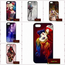 Suicide Squad Joker Harley Quinn Phone Cases Cover For iPhone 4 4S 5 5S 5C SE 6 6S 7 Plus 4.7 5.5   #HE0376