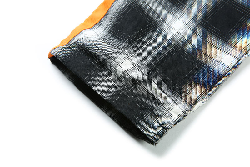 Side Ribbon Plaid Pants 12