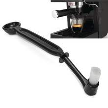 Semi-automatic machine dedicated coffee brush/dual-purpose nylon clean brush with powder spoon coffee tool