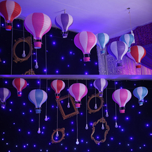 1 Pc Rainbow Hot Air Balloon Paper Lantern Event Party Birthday Hanging Colorful Wedding Decor Balloons Decoration 30cm