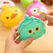 2016 Hot 3D kawaii Cute Cartoon Animal Silicone Coin Purse Wallets Rubber Purse Bags coin case kids wallet fashion girls bag