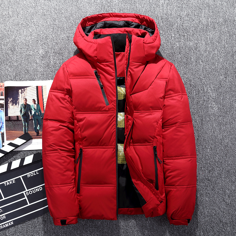 Winter Men White Duck Down Jacket High Quality Casual Windproof Warm Jackets and Coats Slim Fit Gray Parkas Hot Sale Down Coat