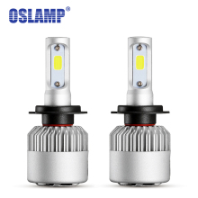 Oslamp 6500K Led COB Chips H7 Headlight Kits for SUV Auto Styling Car Bulbs 8000lm/pair LED Fog Lamps with Cooling Fan S2 Series