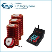Featured Product Restaurant Guest Calling System with 30 Red Coaster Pagers