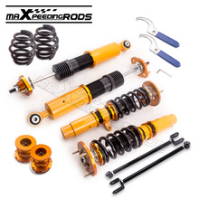 Coilover Suspensions for BMW E46 3 Series 323i 328i 330i M3 318i 320i Adj Height fit Sedan Coupe Lowering Kit+ control arms(China)