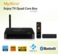 XBMC Fully Loaded ! Geniatech MyGica Amlogic M8 Quad Core Android 4.4 TV Box ATV585 2G/16G Google Media Player Smart tv box(China)