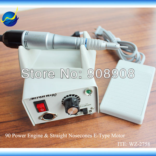 M33Es E-Type Motor + Straight Nose Cone Head + Strong 90 Dentle Nail File Polishing Electric Mini Micromotor Grinder 35k RPM 65W(China (Mainland))