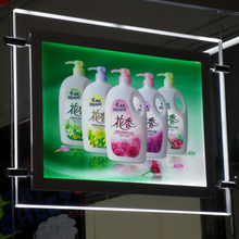 One Side Magnetic Crystal Frame LED Illuminated Signs LIghtbox Window Hanging Display for Real Estate Agent