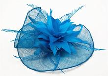 Sinamay Hat Fascinator Feather Flower Hair Clip Wedding Hats And Fascinators Bridal Hair Acessories Chapeu Casamento WIGO0513