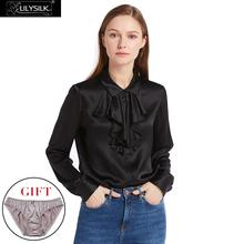 LILYSILK 22mm Feminine Cascade Front Silk Shirts 100% Charmeuse Silk Glossy Sophisticated Knitting NEWS Free Shipping