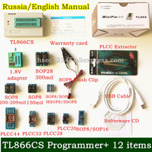 V6.6 MiniPro TL866CS programmer USB Universal Programmer/Bios Programme +12 items 51 MCU Flash EPROM Programmer Russia Manual(China)