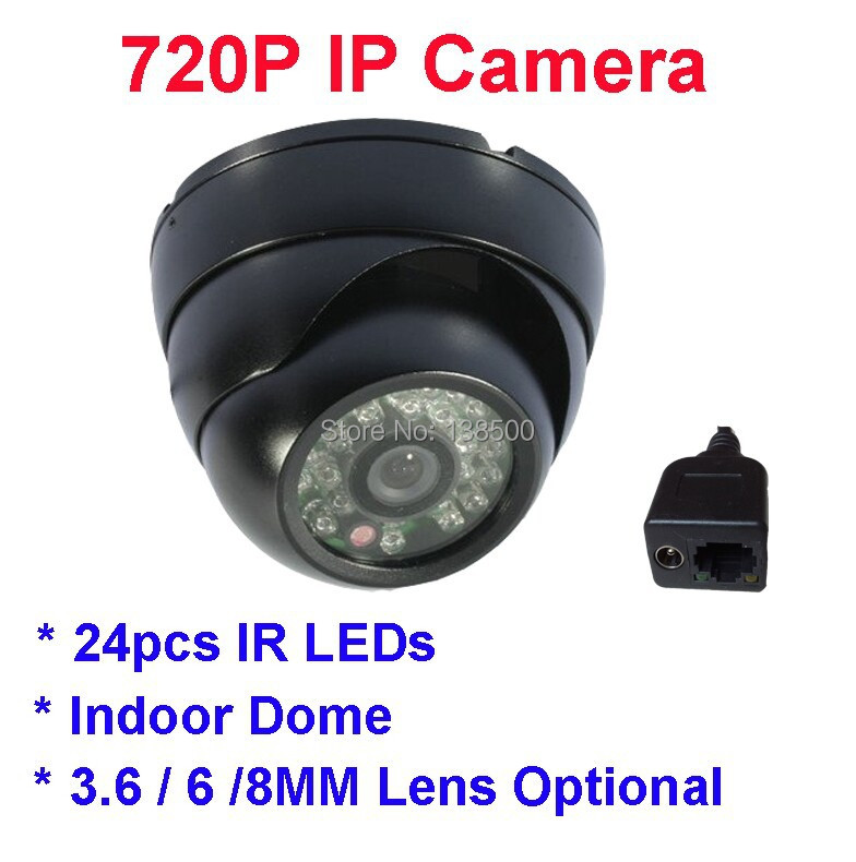 Free Shipping 1.0MP 720P IP Camera Network Security P2P Cloud Dome Indoor 24IR Night Vision Plastic<br><br>Aliexpress