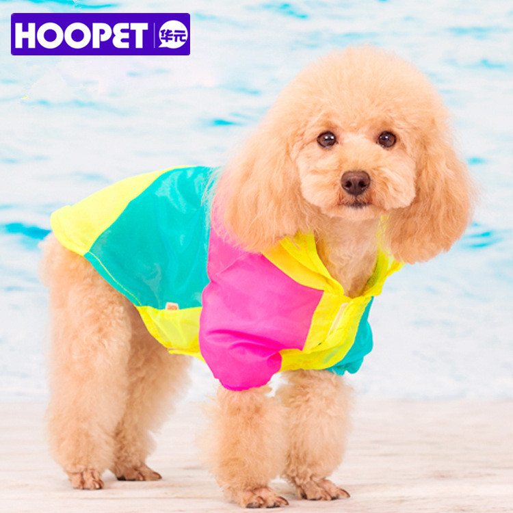 Summer Dog Clothes Light Stitching Color Sunscreen UV Protection Small Dog Hoodie Coat Outdoor Clothing Pet XS-XL