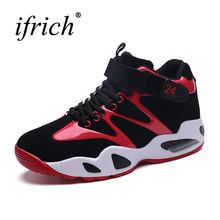 Hot Sell Mens Sneakers Basketball Boots Low Top Men Gym Training Sneakers Black Red Sport Trainers Black Red Gym Boots(China)