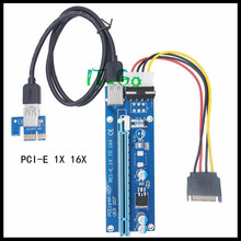 Buy 1 lot Get 1 Free! Ver007 PCIe PCI-E PCI Express Riser Card 1x to 16x USB 3.0 Data Cable SATA to 4Pin Power Supply for BTC